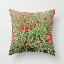 poppy flower no5 Throw Pillow