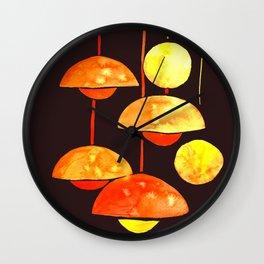 Watercolor orange latern // hugge light Wall Clock