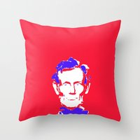 lincoln Throw Pillows featuring Lincoln by Mylittleradical
