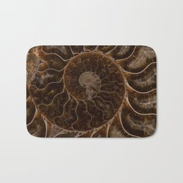 Brown Ammonite Bath Mat