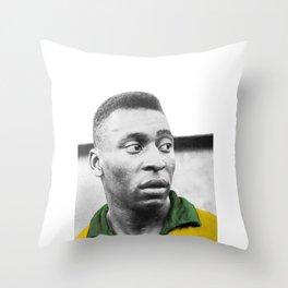 Pelè - Brazilian top player Throw Pillow