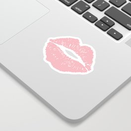 Coral Lips Sticker