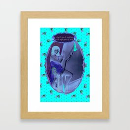 A Girl can do anything in the right pair of shoes Framed Art Print
