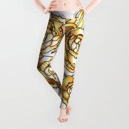 Golden Floral Leggings