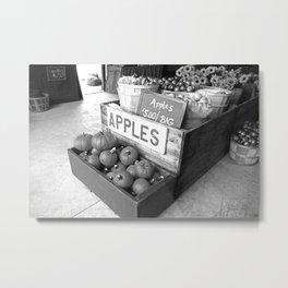 Apples for Sale Metal Print