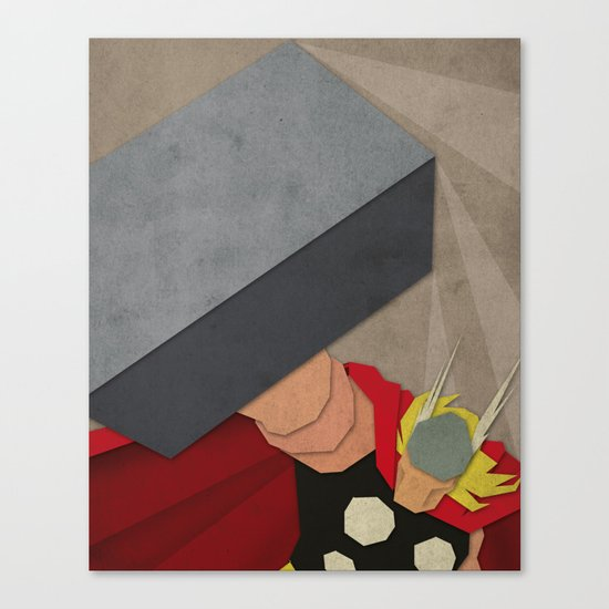 Paper Heroes - Thor Canvas Print