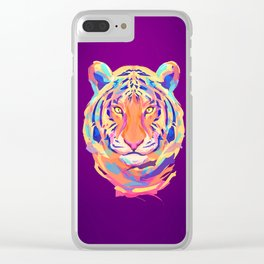 Neon tiger Clear iPhone Case