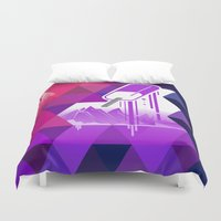 popsicle Duvet Covers featuring Grape Popsicle by Spires