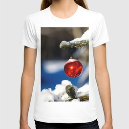 Red Christmas Ball, Sunny Day T-shirt