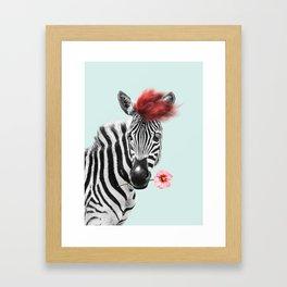 Zebra cool Framed Art Print