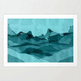 Mountain X 0.1 Art Print
