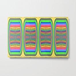 Mobile-style-pattern Metal Print