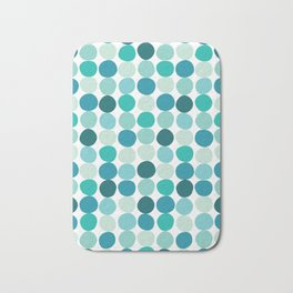 Midcentury Modern Dots Blue Bath Mat