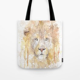 "Watercolor Painting of Picture ""African Lion"" Tote Bag"