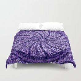 Ultra Violet Stone Tiles 18-3838 Duvet Cover
