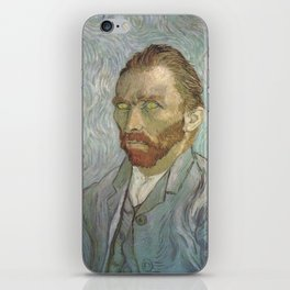 Van Gogh The Starry Night in His Eyes Self Portrait Oil Painting iPhone Skin