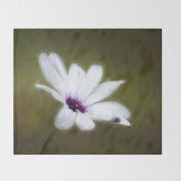 Painted Daisy Throw Blanket