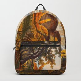 The Comuti Or Taquiare Rock Illustrations Of Guyana South America Natural Scenes Hand Drawn Backpack
