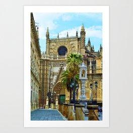 Sevilla Cathedral Art Print