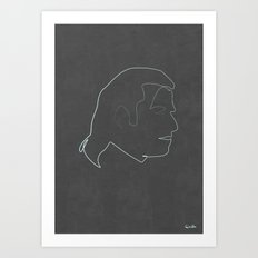 One line Vincent Vega Art Print