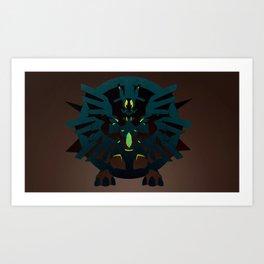 Mega Zekrom by Villiam Boom Art Print