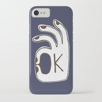 kim sy ok iPhone & iPod Cases featuring OK by Alisa Galitsyna