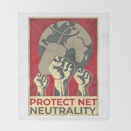 Protect Net Neutrality Throw Blanket