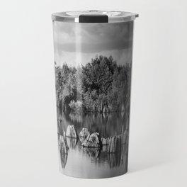 Dead Lakes Florida Black and White Travel Mug