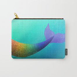 Underwater Swimming Mermaid Fins Rainbow Carry-All Pouch