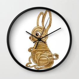 Rope Bunny Wall Clock