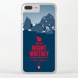 Mount Whitney Clear iPhone Case