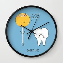 Sweet lies Wall Clock
