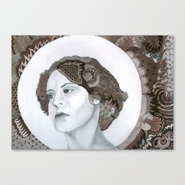 Haloed Lady For Sale!!! Canvas Print