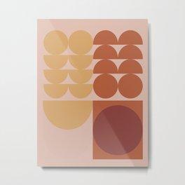 Pink & Brown Metal Print