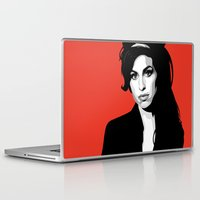 amy hamilton Laptop & iPad Skins featuring Amy by Grace Teaney Art