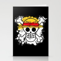luffy Stationery Cards featuring Straw Hat Pirates by rKrovs