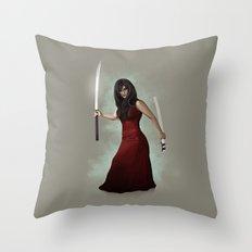 Katana Throw Pillow