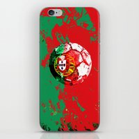 portugal iPhone & iPod Skins featuring football Portugal  by seb mcnulty