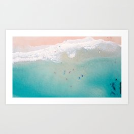 Surfs up Art Print