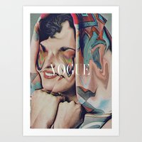 vogue Art Prints featuring Vogue by Mrs Araneae