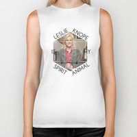 leslie knope Biker Tanks featuring Leslie Knope is My Spirit Animal by Dwell Beautiful