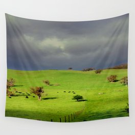 Following the fence Line! Wall Tapestry