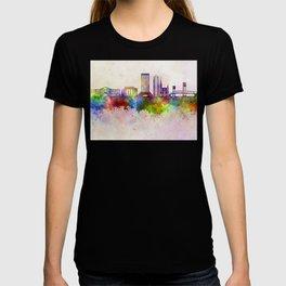 Jacksonville skyline in watercolor background T-shirt