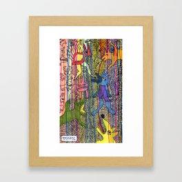 monsters society Framed Art Print