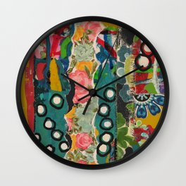 Abstract Collage Wall Clock