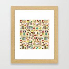 """Proud To Be A Nurse"" Pattern Framed Art Print"