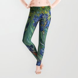 Irises by Vincent van Gogh Leggings