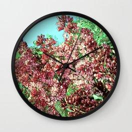 Transformed Lilac Wall Clock