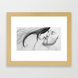 The Lock Framed Art Print
