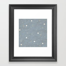 Blue Retro Texture Framed Art Print